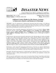 DISASTER NEWS - Jasper County Mississippi