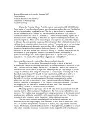Report of Research Activities for Summer 2007 Trent Stockton ...