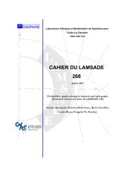 CAHIER DU LAMSADE 268 - HAL