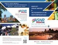 Preliminary Program Brochure - ASNR