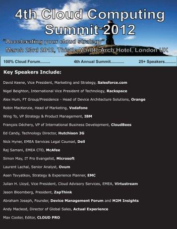 4th Cloud Computing Summit 2012 - The GAAPweb blog