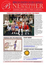 NEWSLETTER - Broomwood Hall