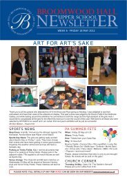 ART FOR ART'S SAKE - Broomwood Hall