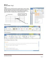 MET 107 MS Word Notes – Day 2 Table Anchor 6 Rows, 4 Columns ...