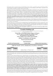 IPO Prospectus - Gondola Holdings