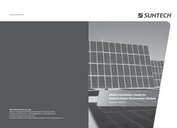 Global Installation Guide for Suntech Power  Photovoltaic Module