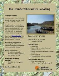 Rio Grande Whitewater Canoeing