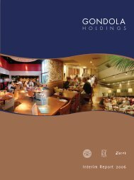 Interim Report - Gondola Holdings