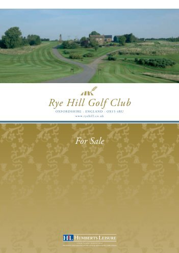 Rye Hill Golf Club - HLL Humberts Leisure