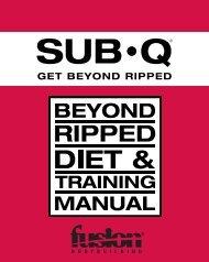 sub•q beyond ripped diet & training manual - fusion vip - Fusion ...