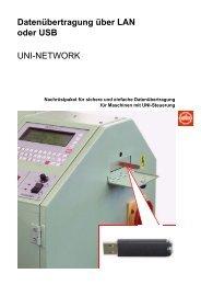 Datenübertragung über LAN oder USB UNI ... - Jakob Müller AG