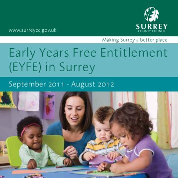 Early Years Free Entitlement (EYFE) in Surrey - Surrey County Council