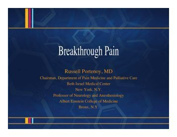 Breakthrough Pain - Dolor Irruptivo.com