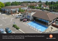 Greater London Freehold Retail and Restaurant Investment - Propex