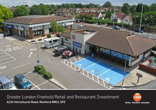 Greater London Freehold Retail And Restaurant Investment