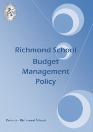 Budget Management Policy - Richmond School