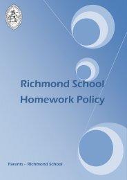 Homework Policy - Richmond School