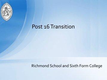 Post 16 Transition - Richmond School