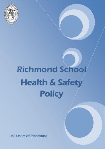 School Health & Safety Policy - Richmond School