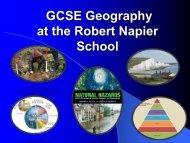 Yr8 Options - Geography - The Robert Napier School
