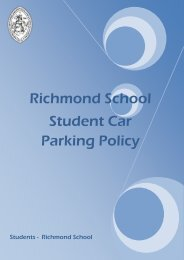 Student Carparking Policy - Richmond School