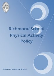 Physical Activity Policy - Richmond School