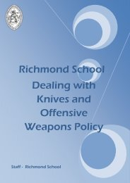 Dealing with Knives and Offensive Weapons ... - Richmond School