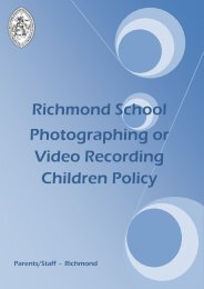 Photographing & Video Recording Children Policy - Richmond School