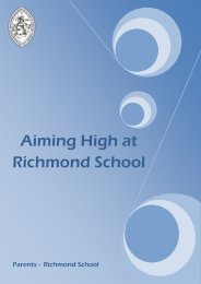 Aiming High Booklet - Richmond School