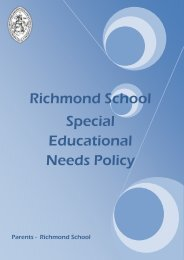 Special Educational Needs Policy - Richmond School