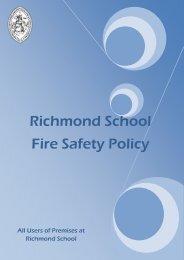 Fire Policy – December 2011 - Richmond School