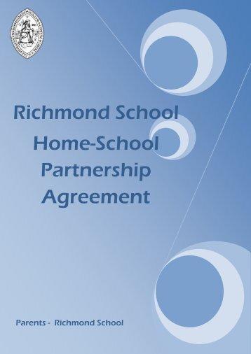 Home-School Partnership Agreement - Richmond School