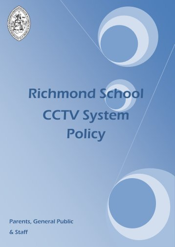 CCTV Policy - Richmond School