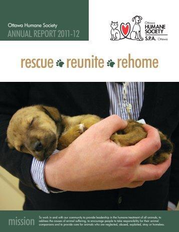 rescue reunite rehome - Ottawa Humane Society