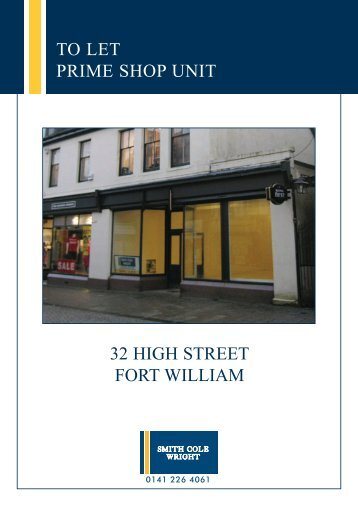 32 high street fort william to let prime shop unit - Smith Cole Wright