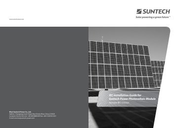 IEC Installation Guide for Suntech Power  Photovoltaic Module