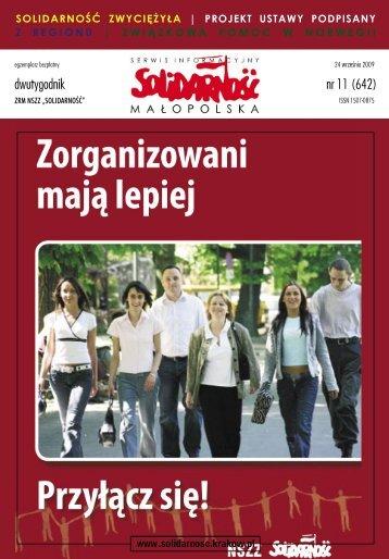nr 11 (642) - Zarząd Regionu Małopolska NSZZ Solidarność