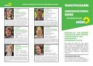 wahlprogramm gemeinderatswahl berne - der Grünen Wesermarsch