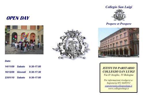 OPEN DAY - Collegio San Luigi