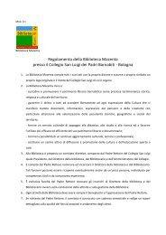 Regolamento della Biblioteca Mazenta presso il Collegio San Luigi ...