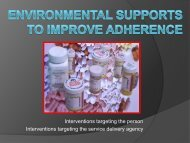 Environmental Supports to improve adherence - Texas Council of ...