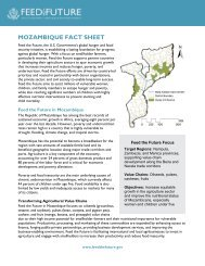 Mozambique Fact Sheet - Feed the Future