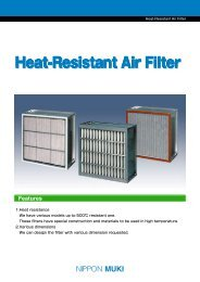 Nippon Muki Heat-Resistant Air filter - tebaf