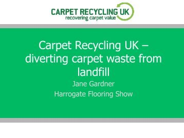 New Recycling Opportunities for Retailers - The Flooring Show