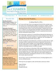Message from the President... - Tiffin Area Chamber of Commerce