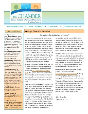 Message from the President - Tiffin Area Chamber of Commerce