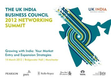 2012 NETWORKING SUMMIT - UK India Business Council