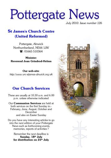 St James's Church Centre (United Reformed ... - Alnwick, St James