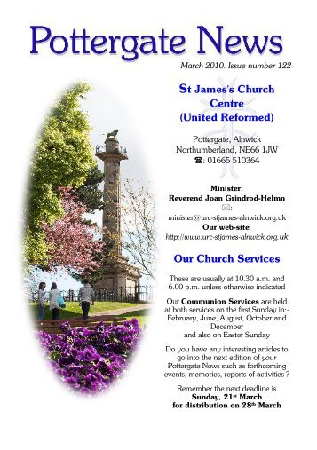 Our Church Services - Alnwick, St James