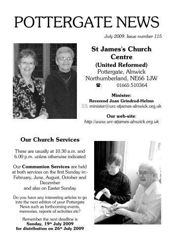 POTTERGATE NEWS - Alnwick, St James
